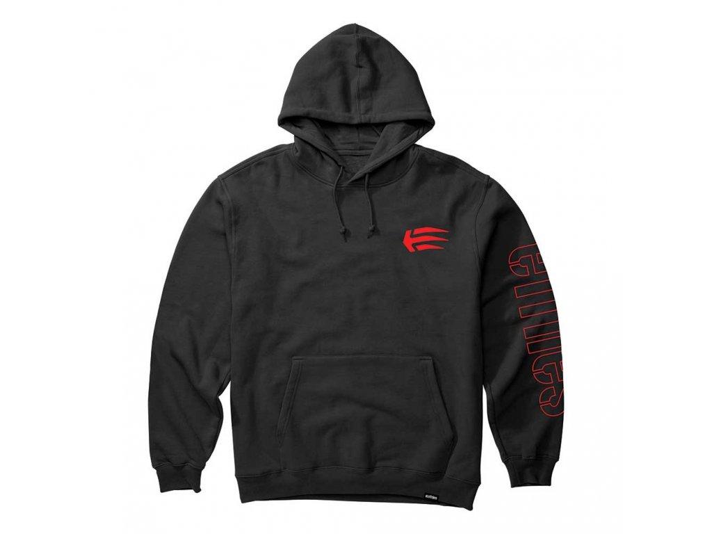 10064255 mikina etnies joslin hoodie black red