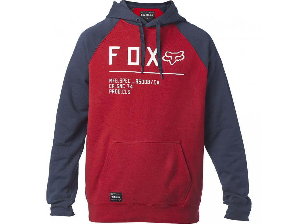 MIKINA FOX NON STOP RAGLAN FLEECE CHILLI