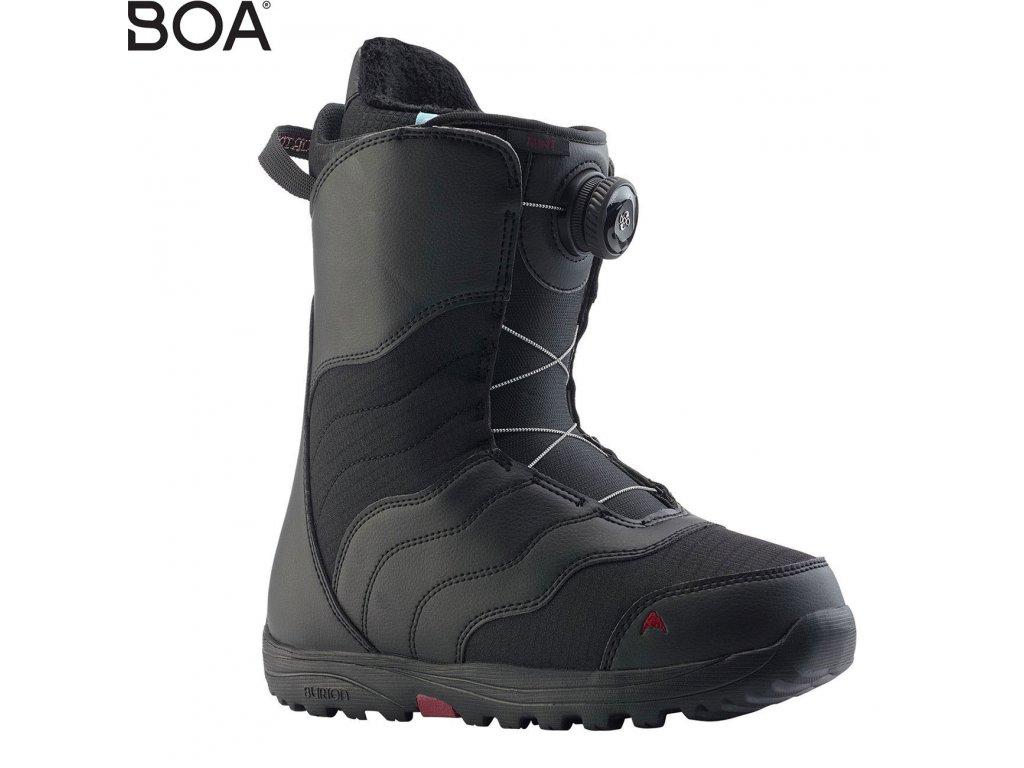 boty burton mint boa black 6