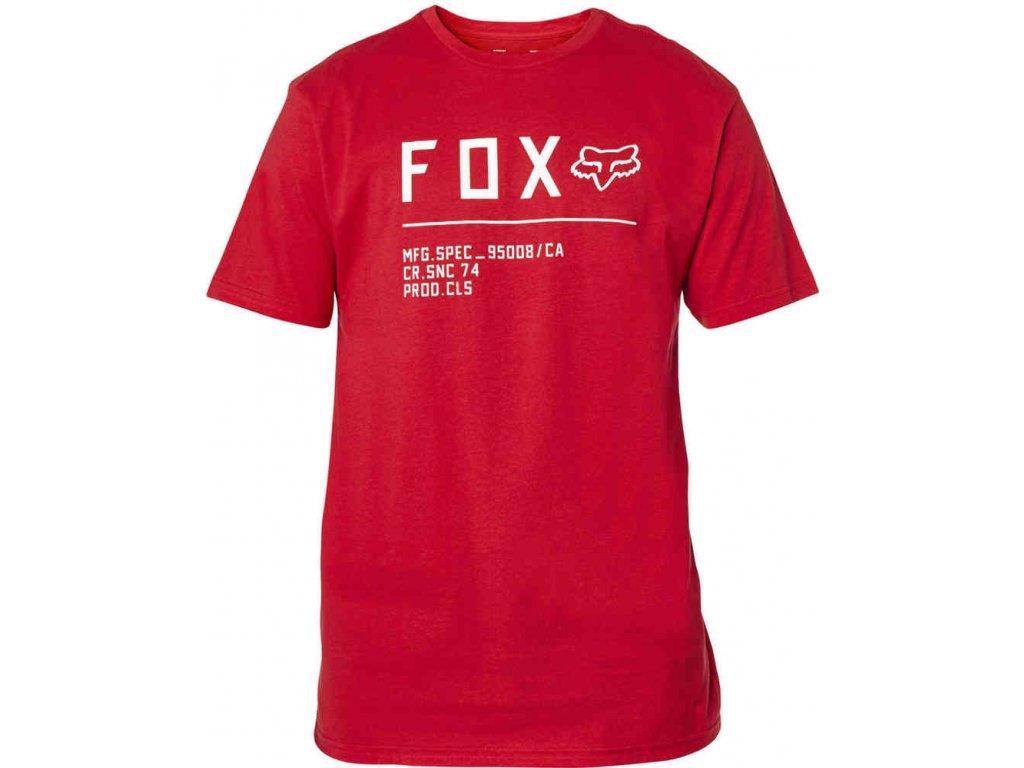 triko Fox non stop červená bílá