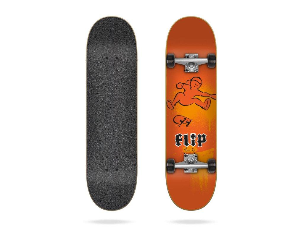 flip oliveira doughboy 7 87 complete skateboard