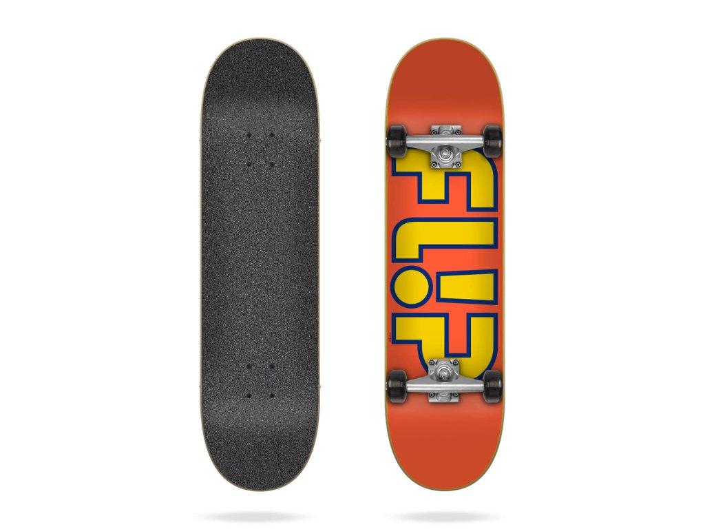 flip team outlined orange 8 0 complete skateboard