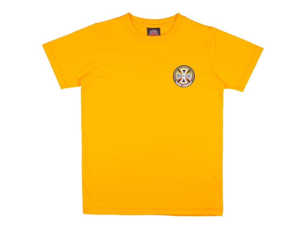 independent youth split cross tee gold (1)