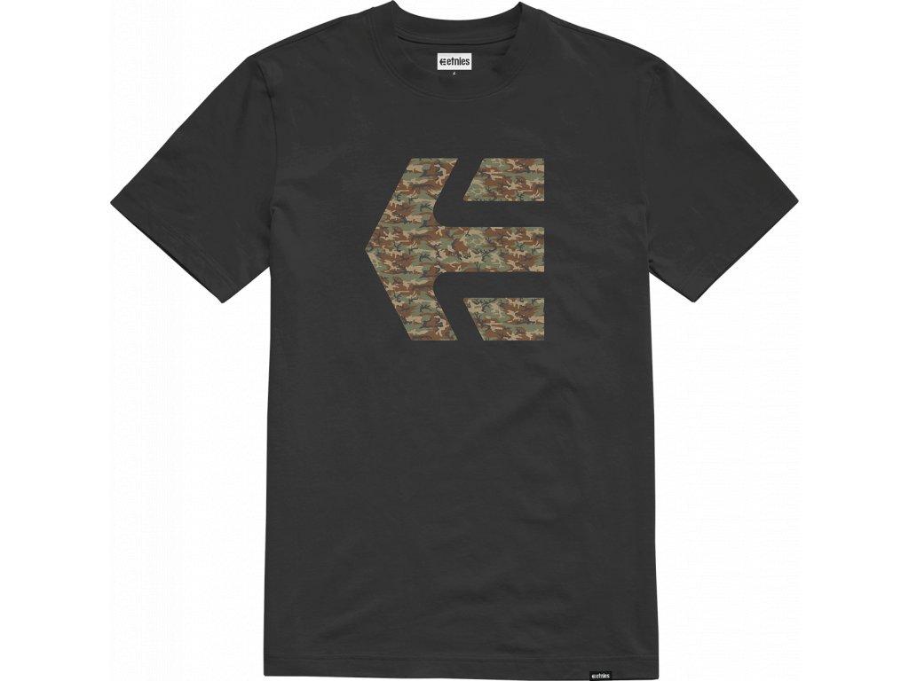 triko Etnies Icon černá camo