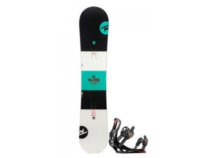 Snowboard Set Rossignol Alias + Vázání Battle Black M/L