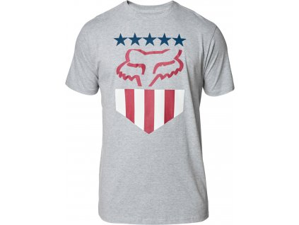 TRIKO FOX FREEDOM SHIELD SS TEE HTR GREY