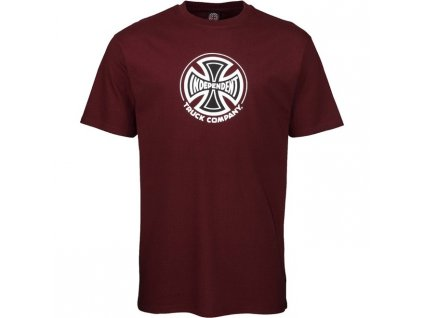 INA SP20 SS Tee Truck Co Burgundy