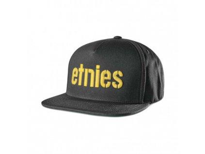 10064339 ksiltovka ETNIES Corp Snapback Black Yellow 1 s
