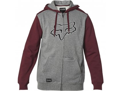 MIKINA FOX DESTRAKT ZIP FLEECE GREY/RED