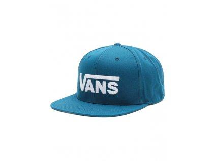 kšiltovka Vans s rovným kšiltem modrá