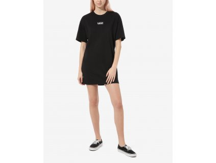 šaty Vans Center Vee Tee DR Black