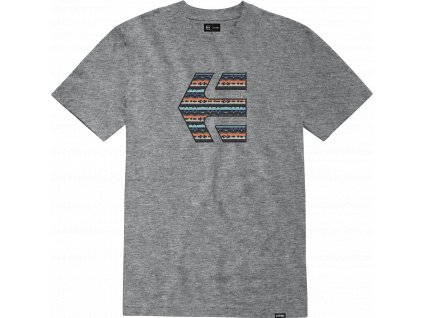 triko Etnies Ikonický tisk šedé