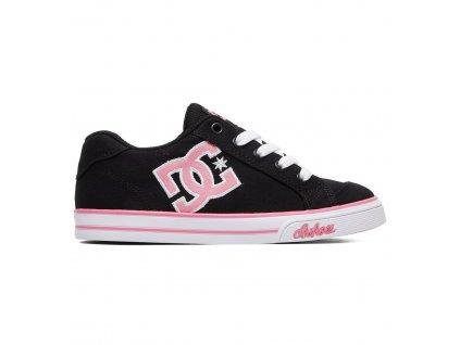 boty DC Chelsea TX černo růžové