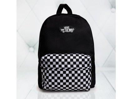 batoh Vans černý s šachovnicí