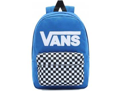 batoh Vans modrý s šachovnici 1