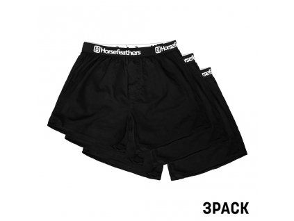 BOXERKY HORSEFEATHERS FRAZIER 3PACK BLK