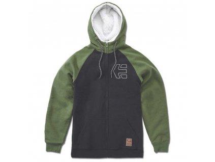 etnies parlay sherpa hoodie half zip hoodie
