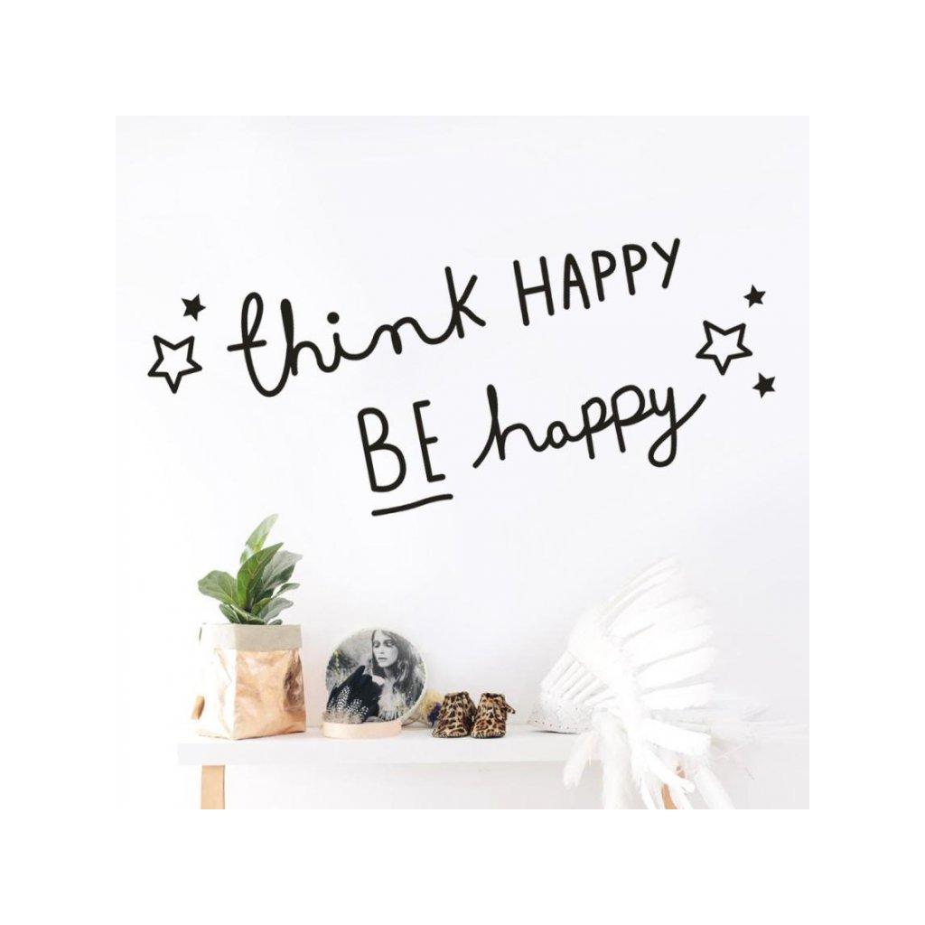 "Samolepka na zeď ""HAPPY"" 70x35 cm"
