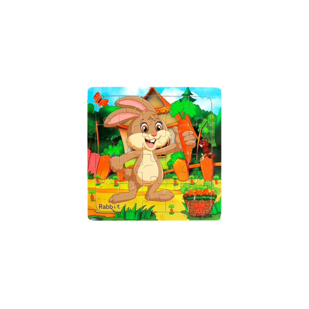 Drěvěné puzzle - Zajíček 20ks