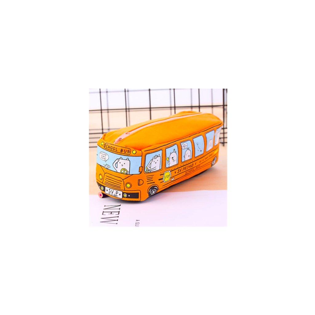 Oranžový autobus detail