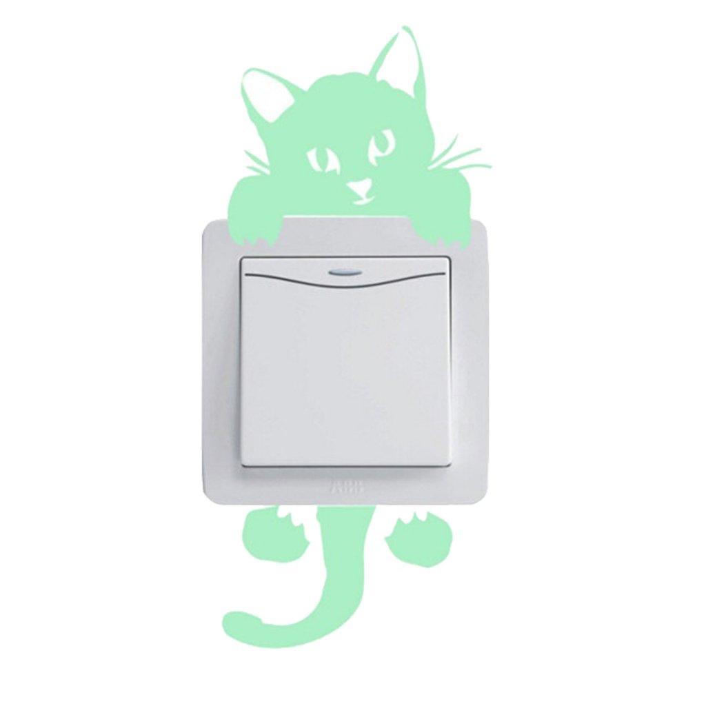 """Fosforová samolepka na vypínač """"Kočička"""" 20cm"""