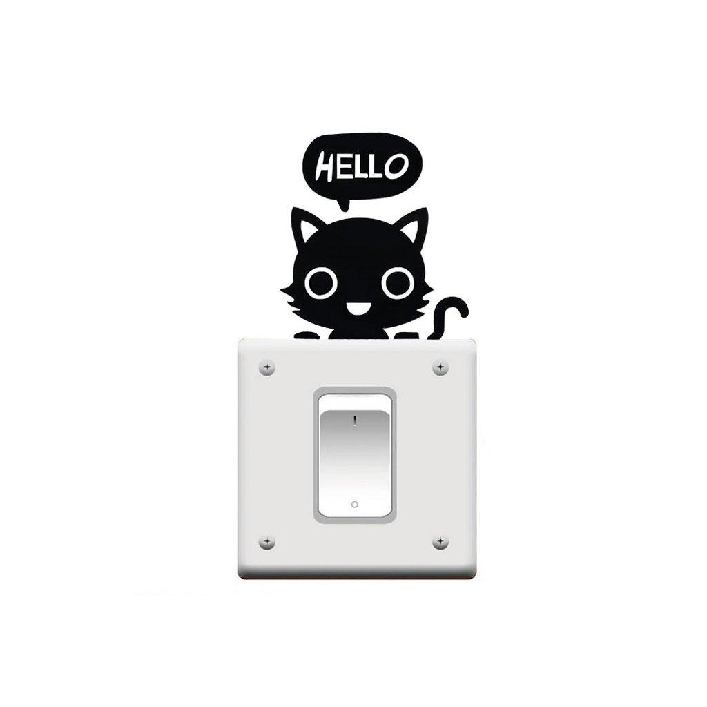 "Samolepka na vypínač ""Kočička"" 11x10 cm"