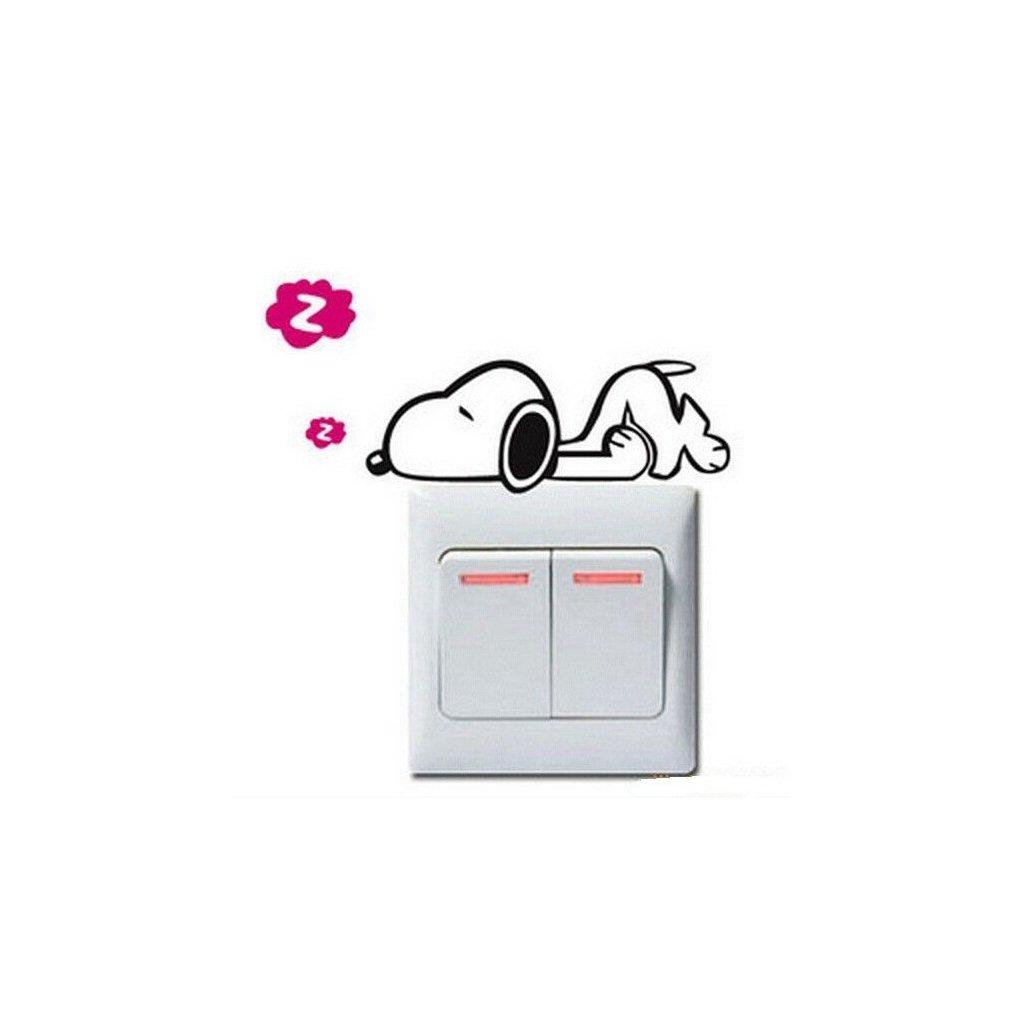 """Samolepka na vypínač """"Spíci Snoopy"""" 9x11 cm"""