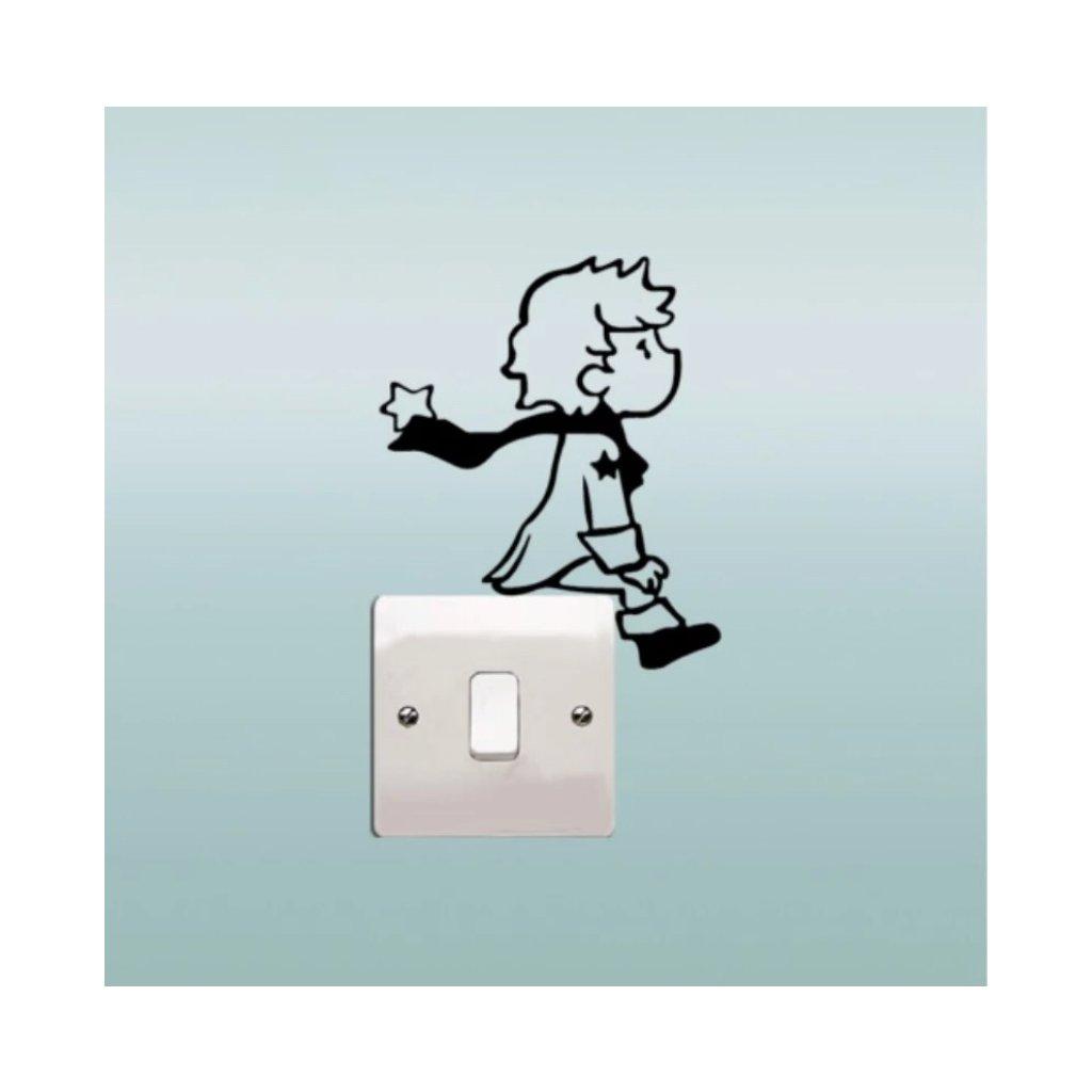 """Samolepka na vypínač """"Malý Princ"""" 13x11 cm"""