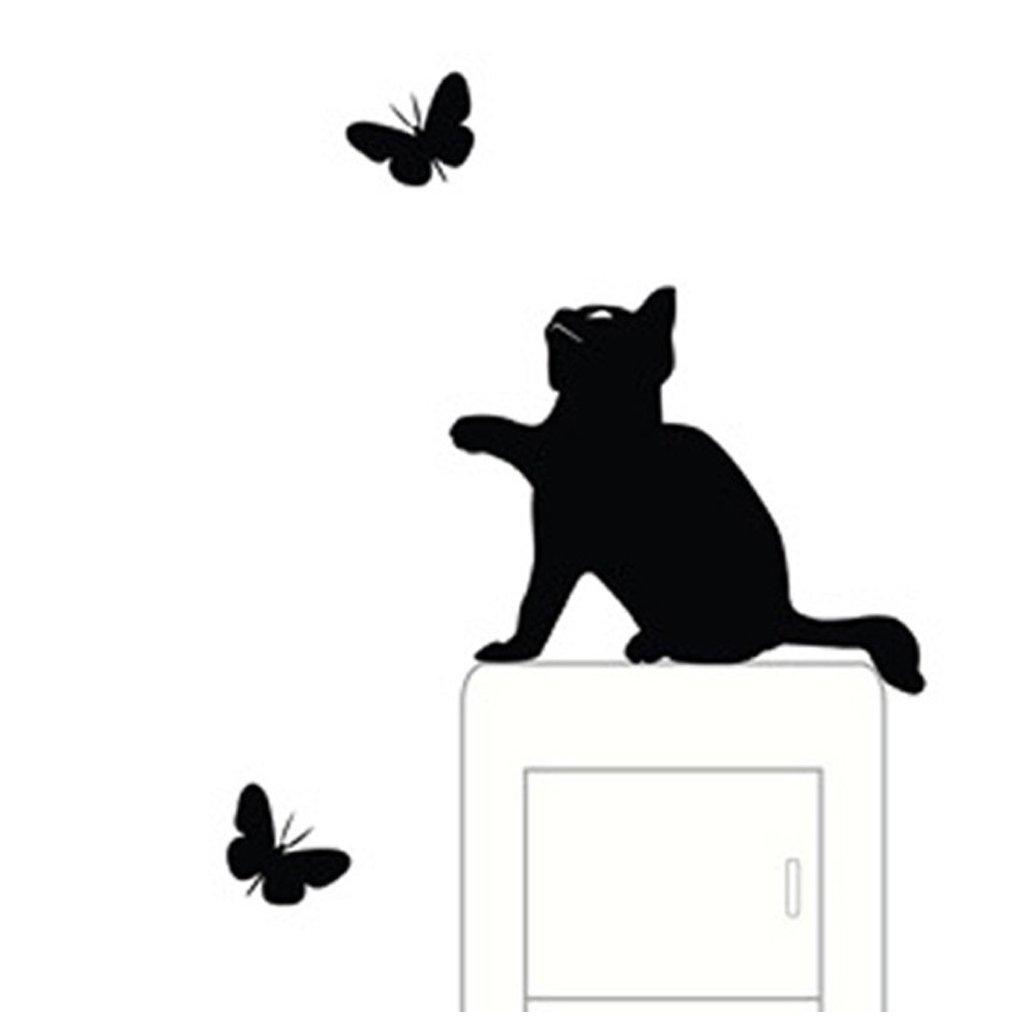 """Samolepka na vypínač """"Kočka s motýly"""" 9x11 cm"""