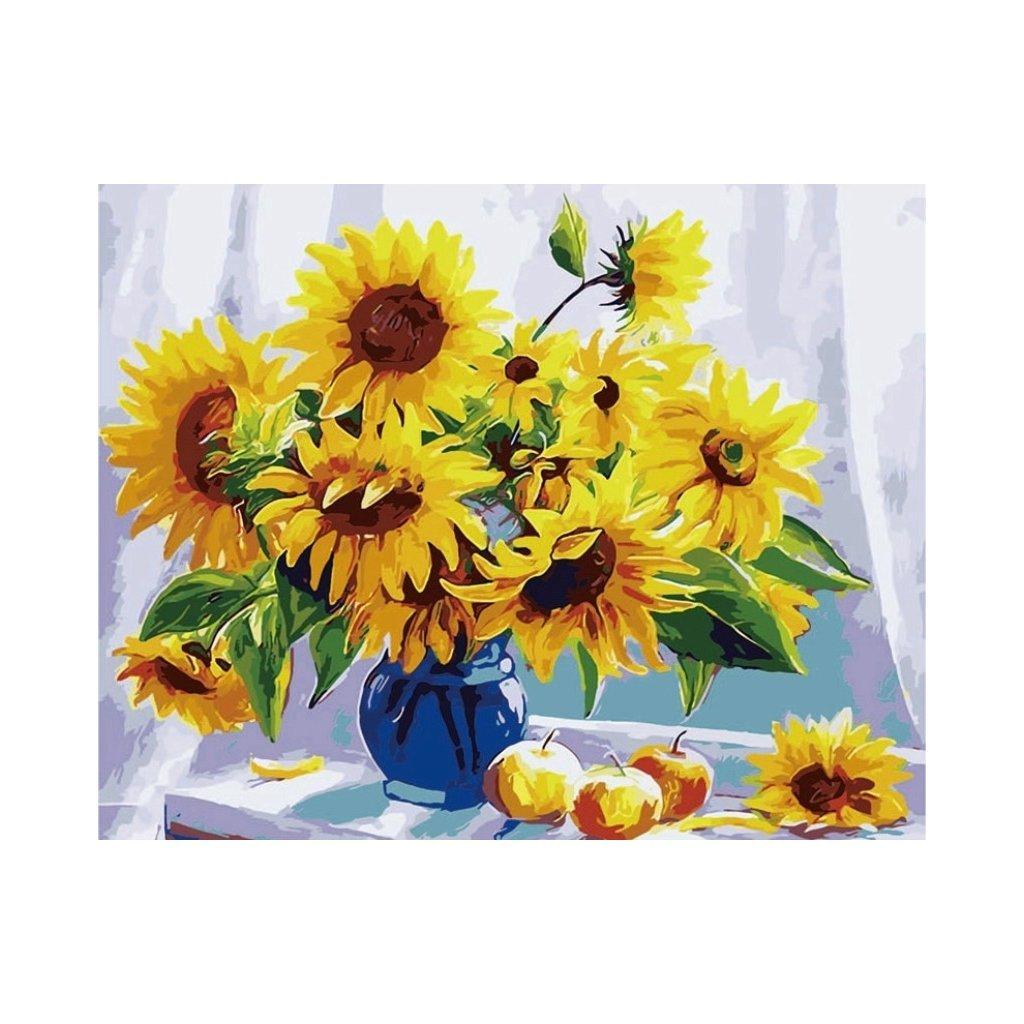 """Malování podle čísel """"Květiny ve váze"""" 40x50 cm"""