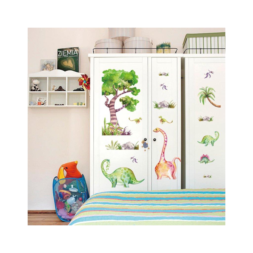 """Samolepka na zeď """"Dinosauři 3"""" 61x126cm"""