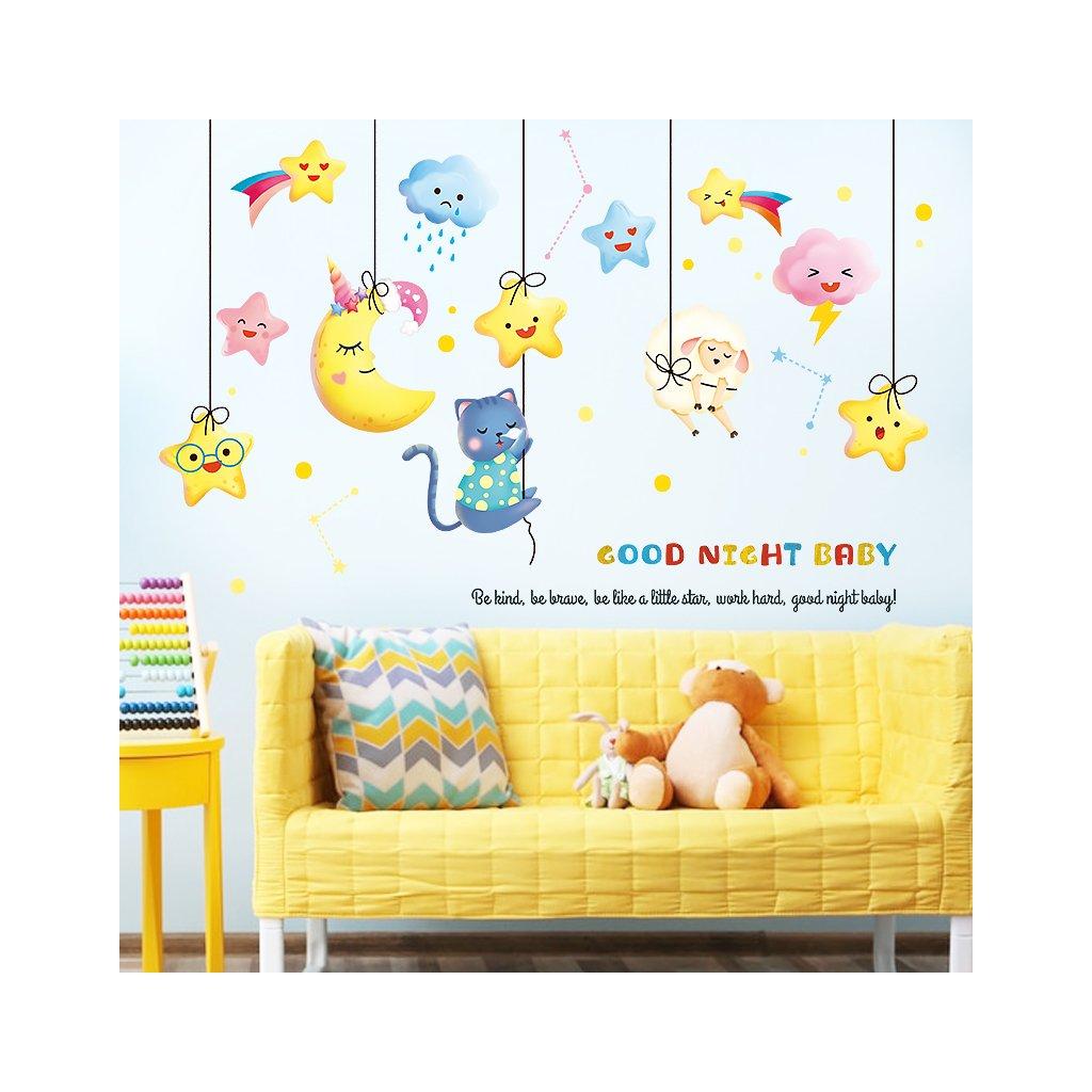 """Samolepka na zeď """"Hvězdičky šňůrkách"""" 82x126cm"""