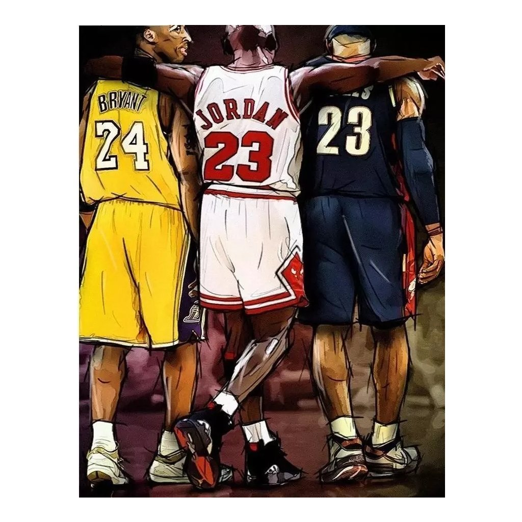 """Malování podle čísel  """"Basketbal"""" 50x40 cm"""