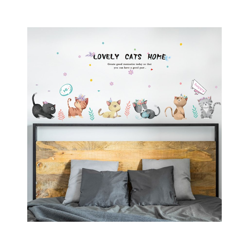 "Samolepka na zeď ""Kočičky"" 50x135 cm"