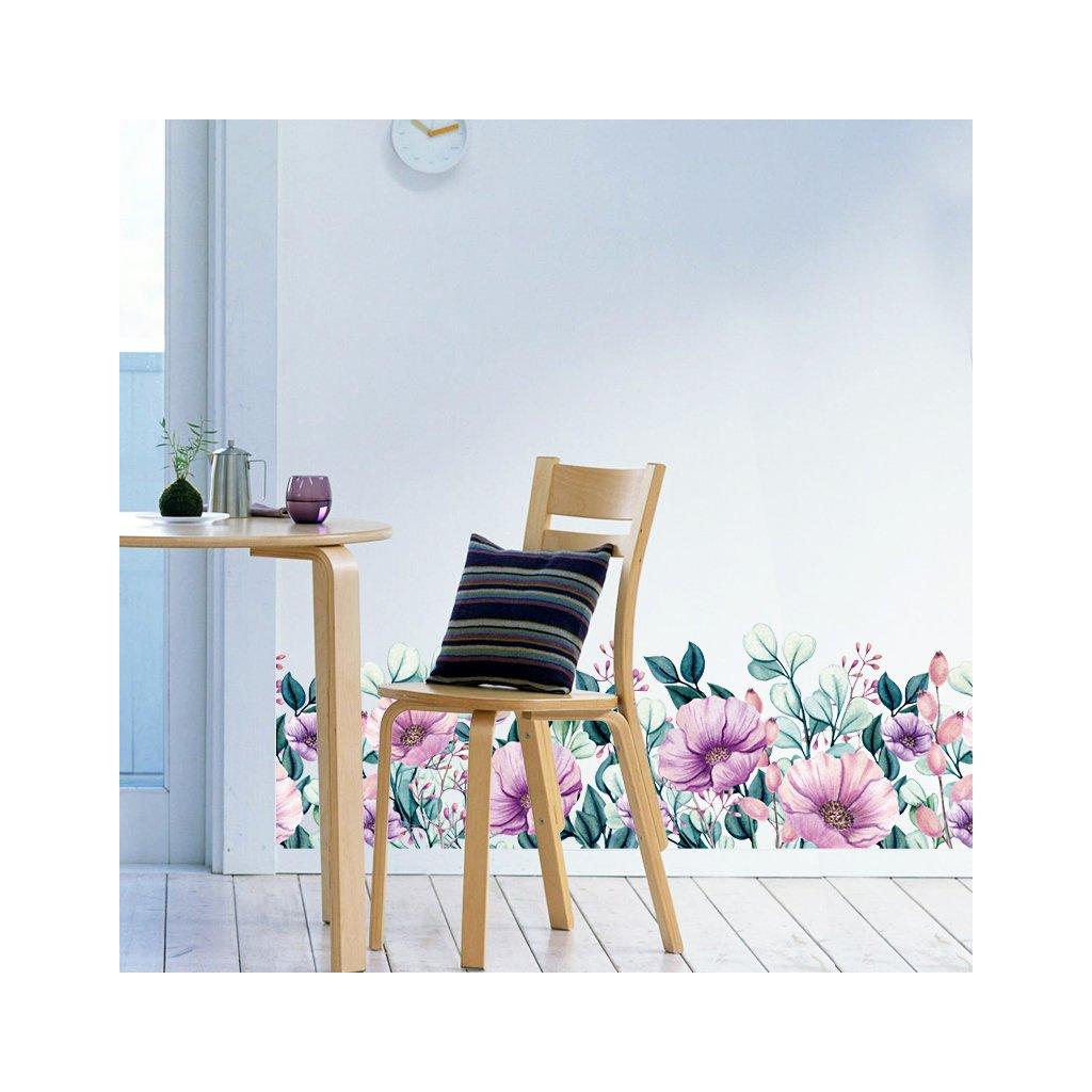 """Samolepka na zeď """"Květy"""" 25x130 cm"""
