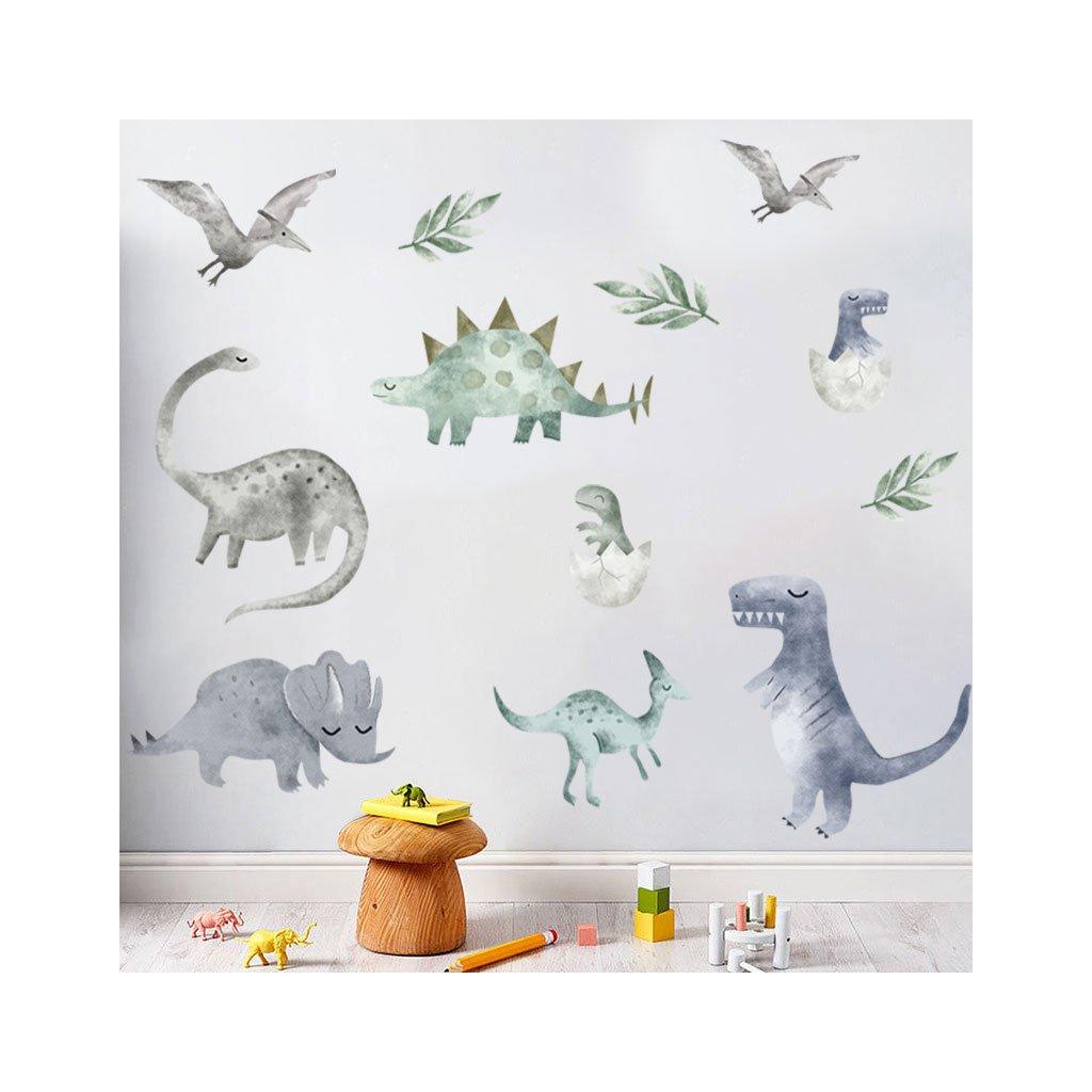 """Samolepka na zeď """"Dinosauři 5"""" 128x226"""