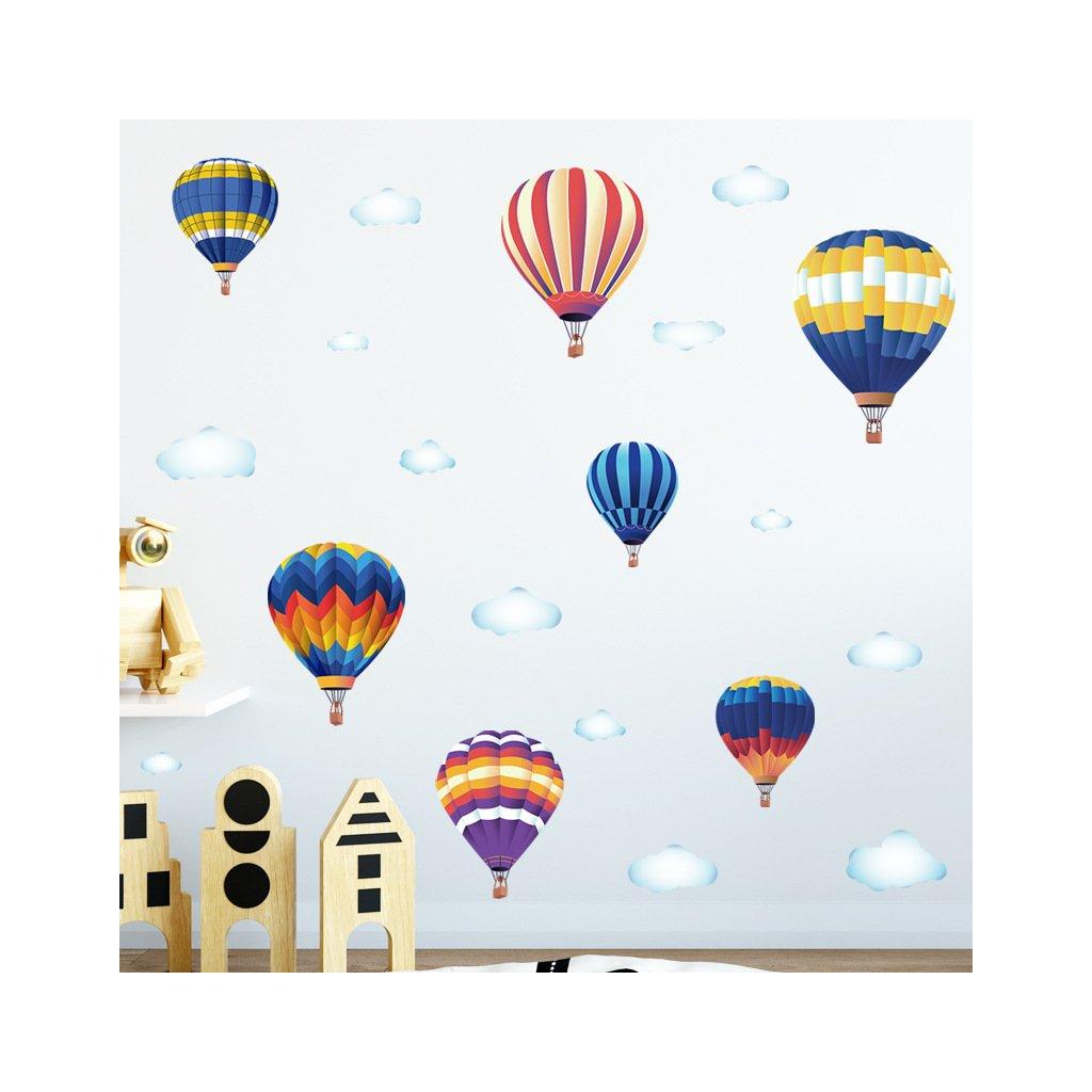 """Samolepka na zeď """"Horkovzdušné balóny"""" 82x170 cm"""