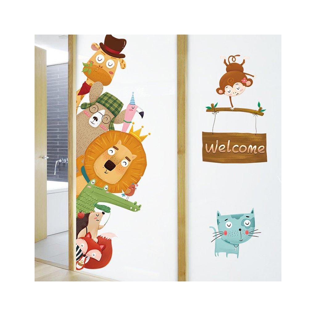 """Samolepka na zeď """"Zvířátka - Welcome"""" 140x80 cm"""