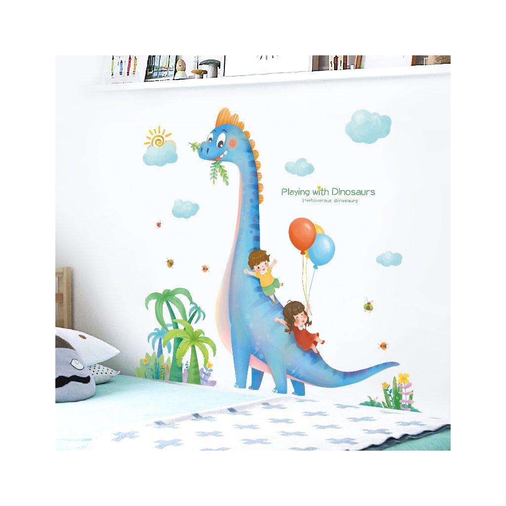 "Samolepka na zeď ""Dinosaurus 2"" 106x110 cm"