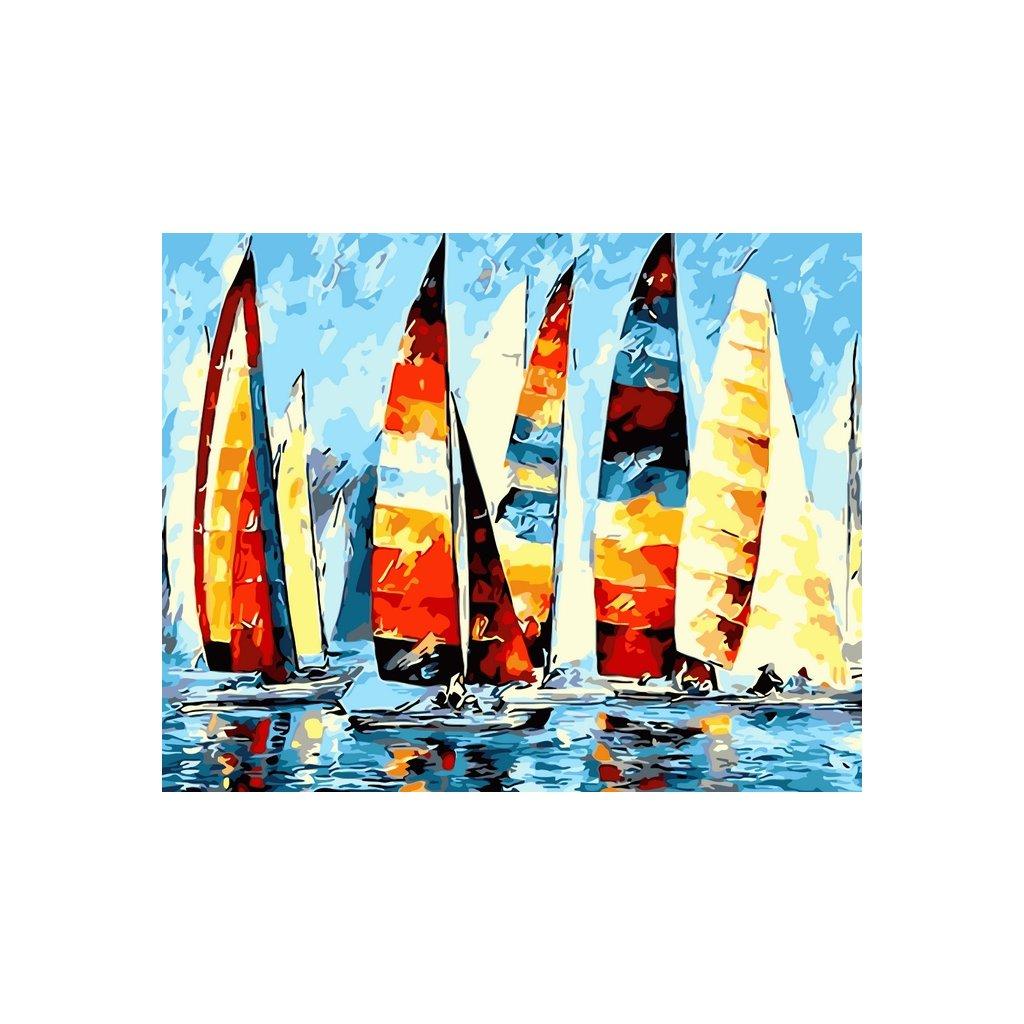 WM 2879 抽象多彩帆船
