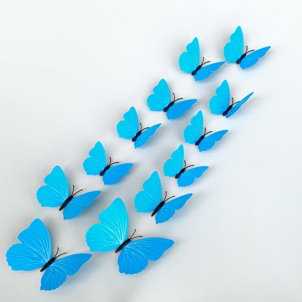 M 016 Plastové 3D Motýle modré kópia