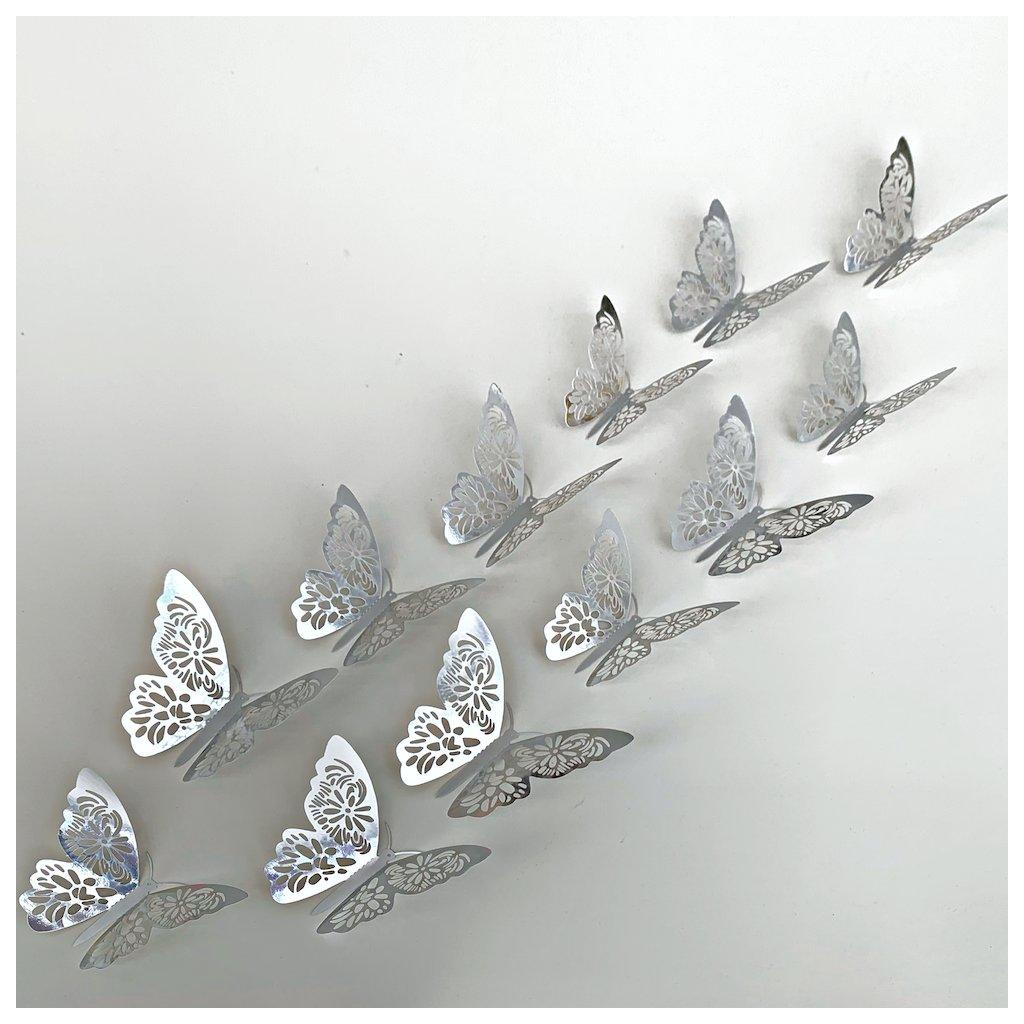 M 028 Metalické Motýle Strieborné 2 kópia