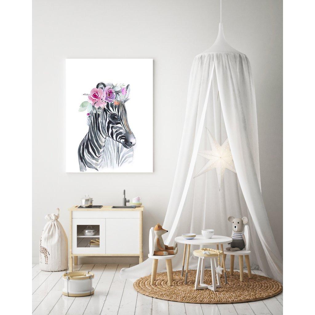 Zebra s kvetmi