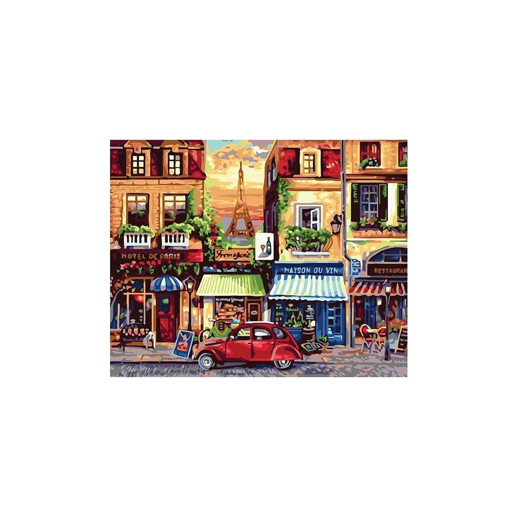 """Malování podle čísel s rámem """"Paríž 4"""" 50x40cm"""