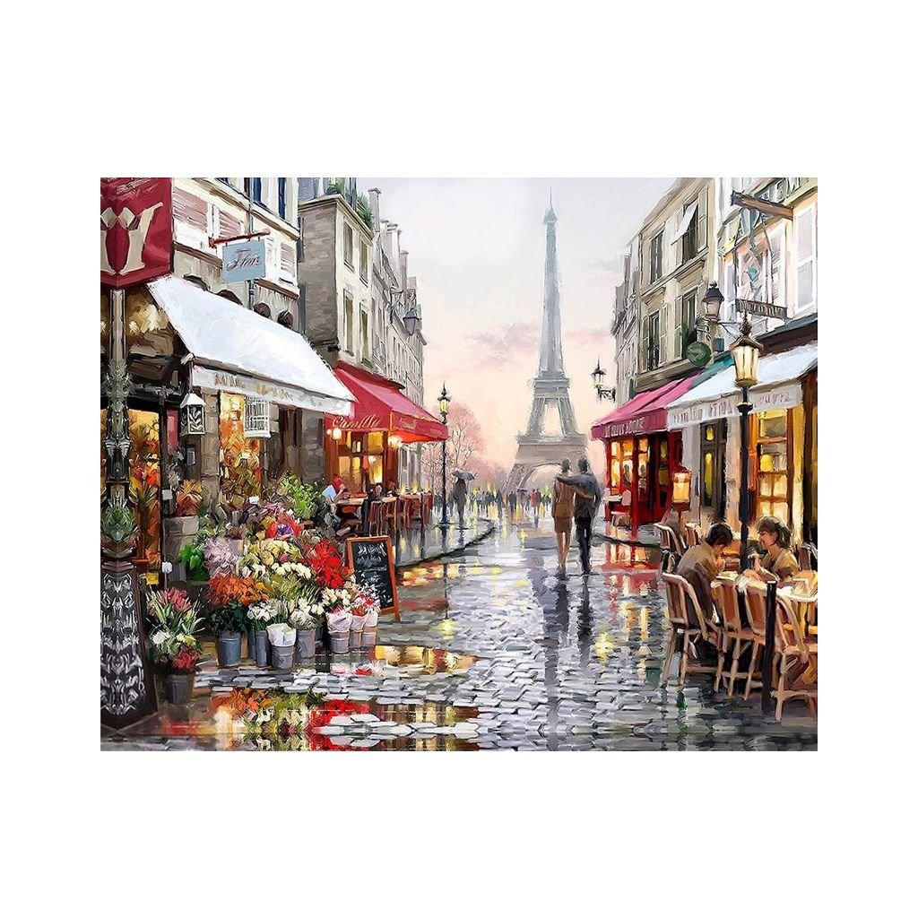 """Malování podle čísel s rámem """"Paríž"""" 50x40cm"""