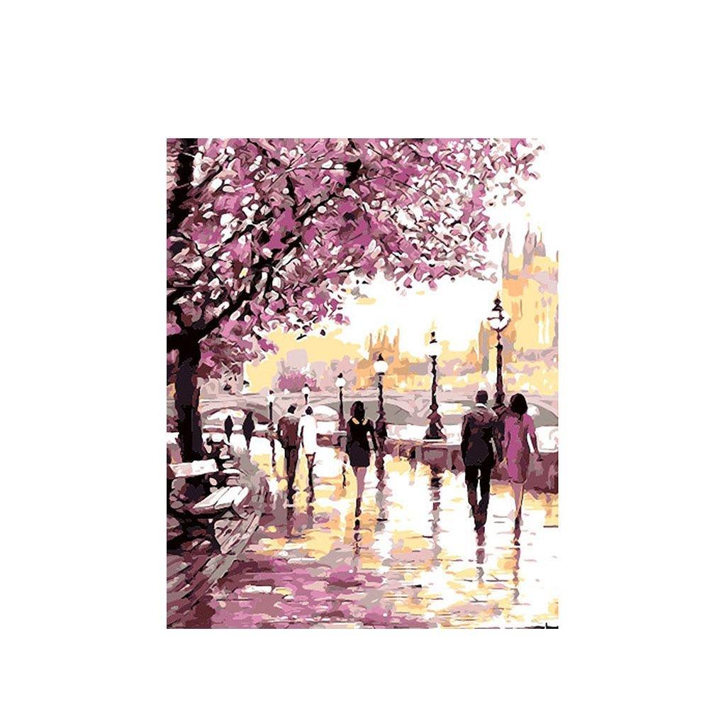 """Malování podle čísel s rámem """"Chodník 2"""" 50x40cm"""