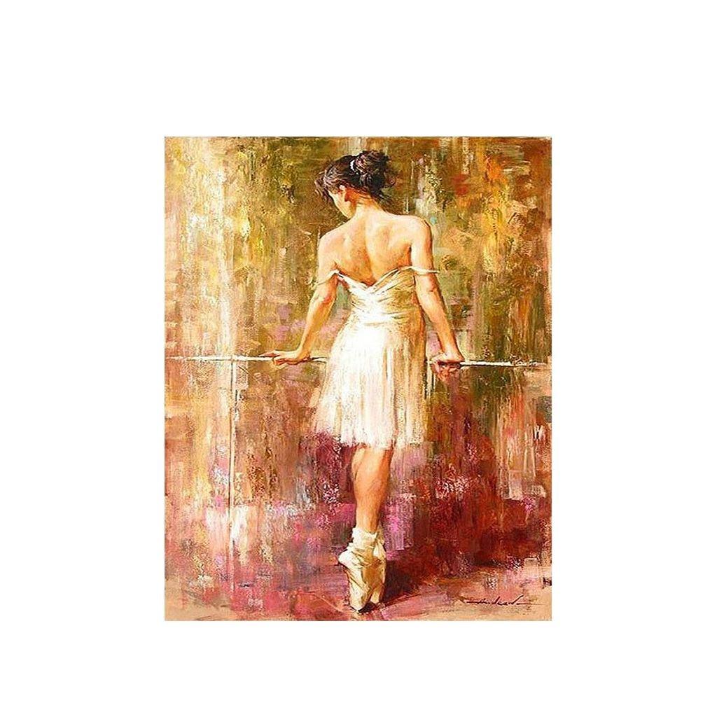 """Malování podle čísel s rámem """"Baletka 5"""" 50x40cm"""