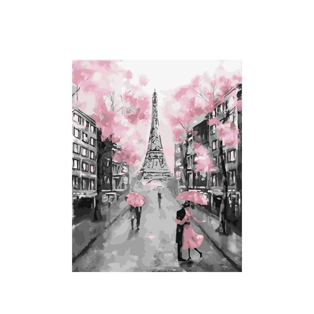 """Malování podle čísel s rámem """"Paříž 6"""" 50x40cm"""
