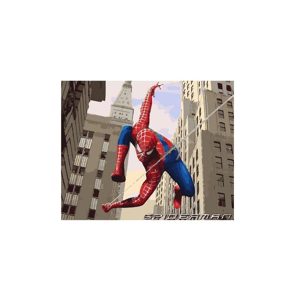 """Malování podle čísel s rámem """"Spider-man 3"""" 50x40cm"""