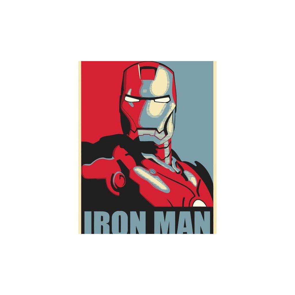 """Malování podle čísel s rámem """"Iron Man 3"""" 50x40cm"""